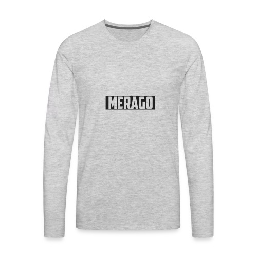 Transparent_Merago_Text - Men's Premium Long Sleeve T-Shirt