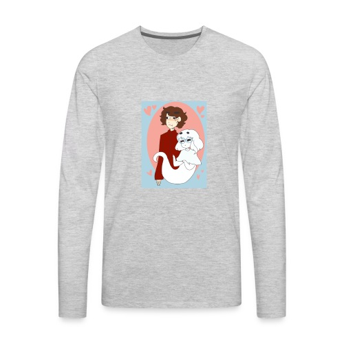 Valentines Day Cynical Ghost Shirt (By Meg Asia) - Men's Premium Long Sleeve T-Shirt