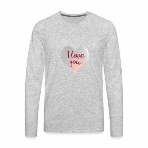 I love you heart - Men's Premium Long Sleeve T-Shirt