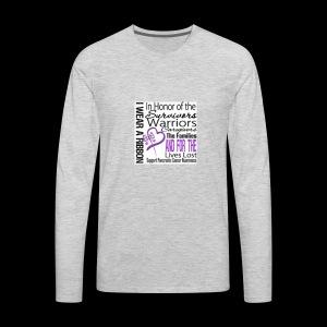 pan cancer aware - Men's Premium Long Sleeve T-Shirt