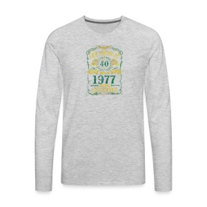 BORN In 1977 Year of Legends 40th - Men's Premium Long Sleeve T-Shirt