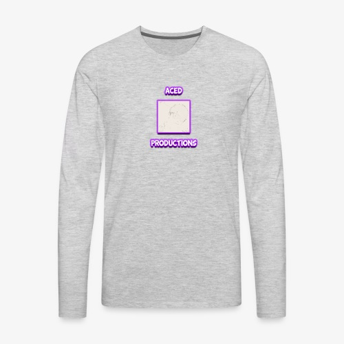AceD Productions Purple Logo - Men's Premium Long Sleeve T-Shirt