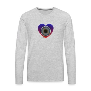 Heart Of Drums Logo - Men's Premium Long Sleeve T-Shirt