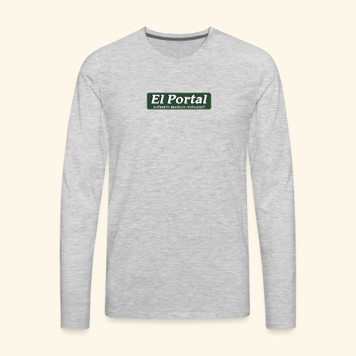 El Portal Modern Logo - Men's Premium Long Sleeve T-Shirt
