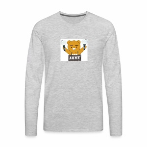 bts bear - Men's Premium Long Sleeve T-Shirt
