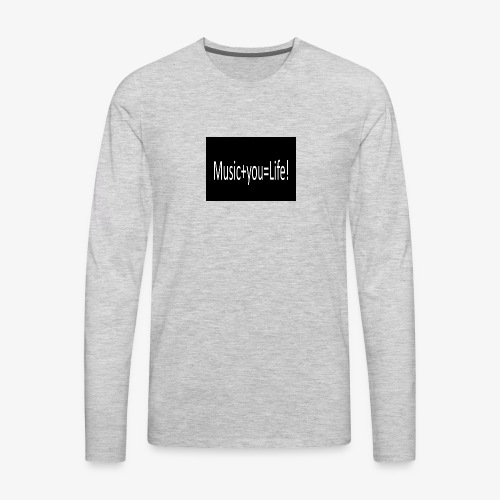 Music+you=Life - Men's Premium Long Sleeve T-Shirt