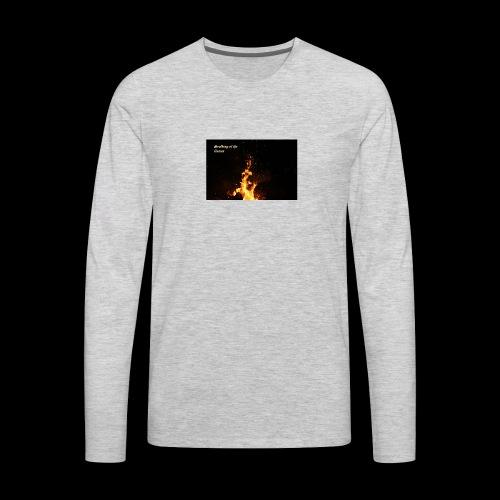 the flames - Men's Premium Long Sleeve T-Shirt