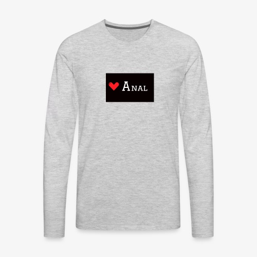 Heart Anal - Men's Premium Long Sleeve T-Shirt