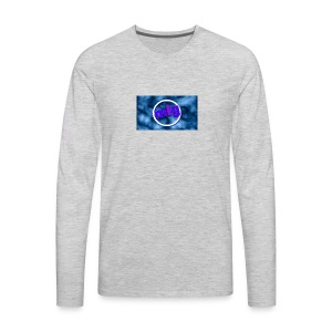 blue gothic grunge background3 - Men's Premium Long Sleeve T-Shirt
