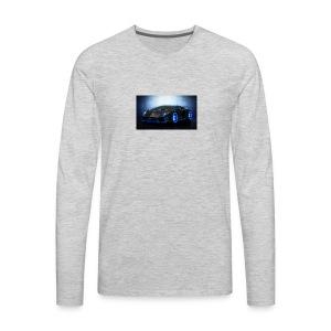 lamborghini black back ground - Men's Premium Long Sleeve T-Shirt