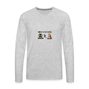 TACO KNIGHT VS SUPER BURRITO - Men's Premium Long Sleeve T-Shirt