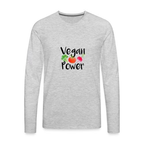 Vegan Power Baby Gift - Men's Premium Long Sleeve T-Shirt