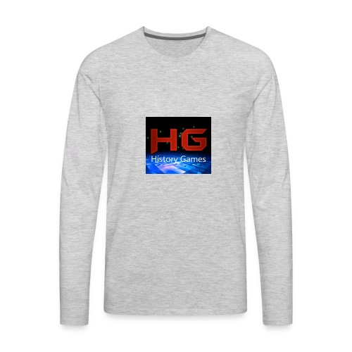 Nuevo logo History Games - Men's Premium Long Sleeve T-Shirt