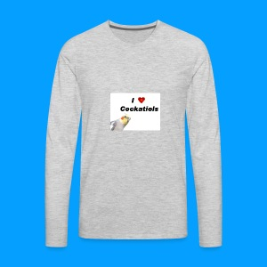 Cockatiels - Men's Premium Long Sleeve T-Shirt