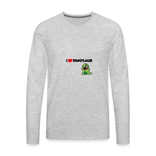I LOVE DINOSAUR - Men's Premium Long Sleeve T-Shirt