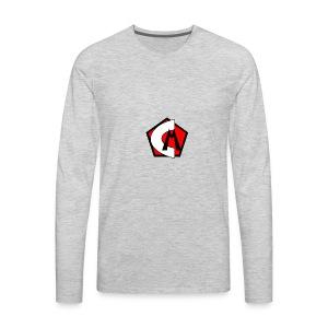 Captain Marvelous Logo - Men's Premium Long Sleeve T-Shirt