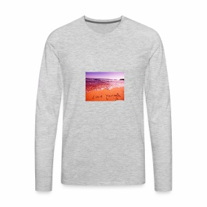 on beach love yourself wallpapers 1024x768 - Men's Premium Long Sleeve T-Shirt
