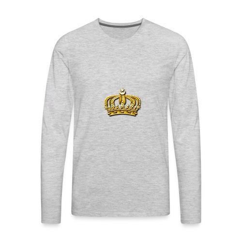 Gold crown - Men's Premium Long Sleeve T-Shirt