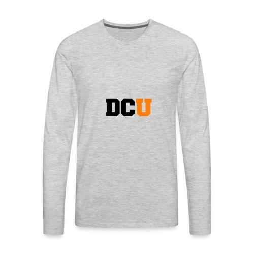 DCU Logo - Men's Premium Long Sleeve T-Shirt