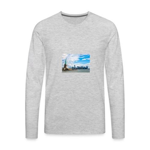 New York Skyline - Men's Premium Long Sleeve T-Shirt