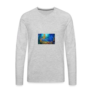 Bart Simpson Posing as the nirvana Boi - Men's Premium Long Sleeve T-Shirt