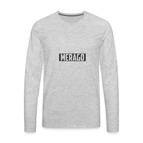 Transparent_Merago_Text - Men's Premium Long Sleeve T-Shirt