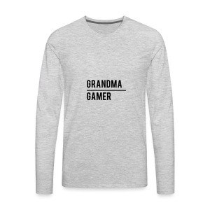 GrandmaGamer_Shirt - Men's Premium Long Sleeve T-Shirt