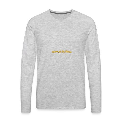 cr--me_de_la_cr--me_logo - Men's Premium Long Sleeve T-Shirt