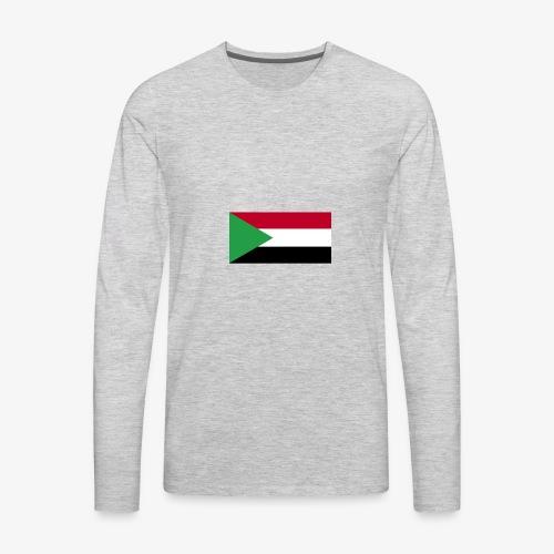 Sudan flag - Men's Premium Long Sleeve T-Shirt