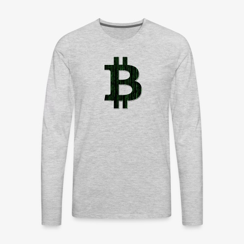 BTC Logo Matrix - Men's Premium Long Sleeve T-Shirt