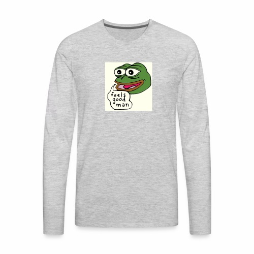 Feels good man, Pepe the frog - Men's Premium Long Sleeve T-Shirt