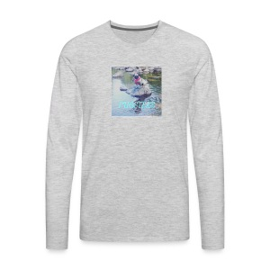 Pugsters Lucy on Rock - Men's Premium Long Sleeve T-Shirt