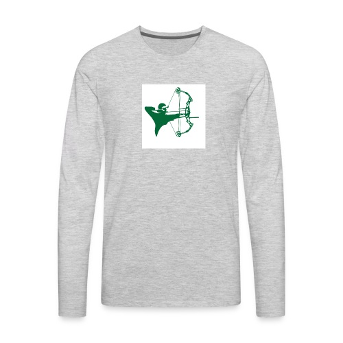 man with bow - Men's Premium Long Sleeve T-Shirt