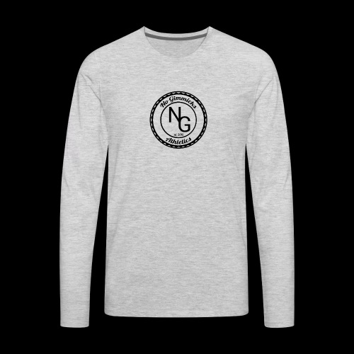no gimmicks logo svart - Men's Premium Long Sleeve T-Shirt