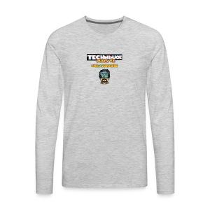 techninjoe Logo T-Shirt - Men's Premium Long Sleeve T-Shirt