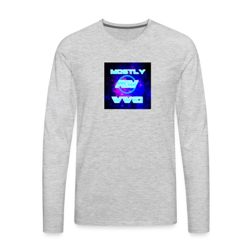 mostly wwe! space logo - Men's Premium Long Sleeve T-Shirt