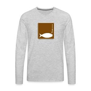Fishing clipart image - Men's Premium Long Sleeve T-Shirt