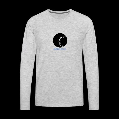 Base Ball Ia Life Logo - Men's Premium Long Sleeve T-Shirt