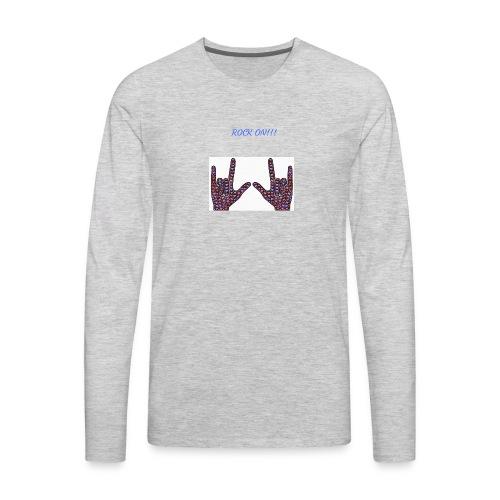 Rock On!!! - Men's Premium Long Sleeve T-Shirt