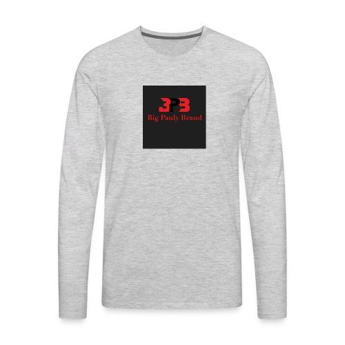 Big Pauly Brand Red Print With Logo - Men's Premium Long Sleeve T-Shirt
