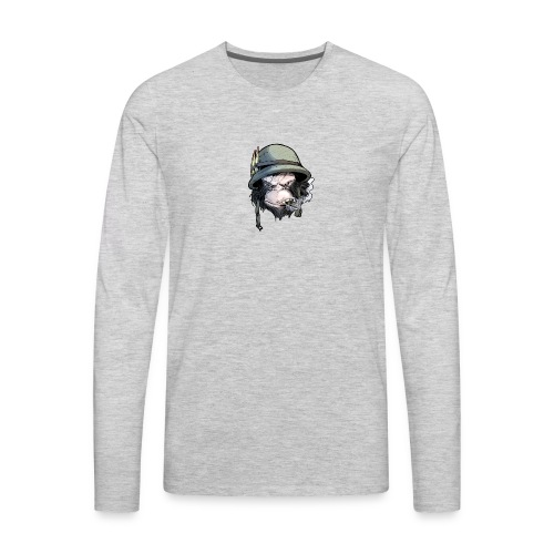 PRIMATE FALLS - FACE - Men's Premium Long Sleeve T-Shirt