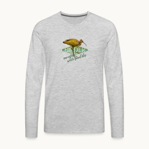 BIRDER - White-faced ibis - Carolyn Sandstrom - Men's Premium Long Sleeve T-Shirt
