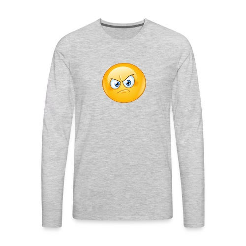 annoyed emoticon - Men's Premium Long Sleeve T-Shirt