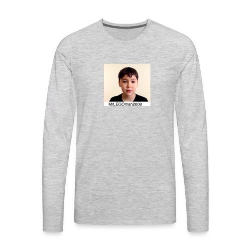 MrLEGOman2008 Face - Men's Premium Long Sleeve T-Shirt