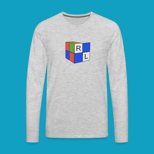 Faded Cube - Men's Premium Long Sleeve T-Shirt