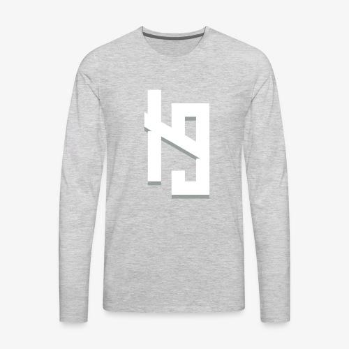 IronPrime9 Text Logo - Men's Premium Long Sleeve T-Shirt