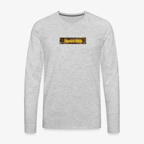 Flat Logo - Men's Premium Long Sleeve T-Shirt