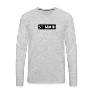 Stimmid black box logo - Men's Premium Long Sleeve T-Shirt