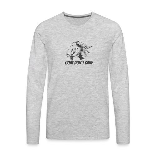 Vector Goat Farm Animal white - Men's Premium Long Sleeve T-Shirt
