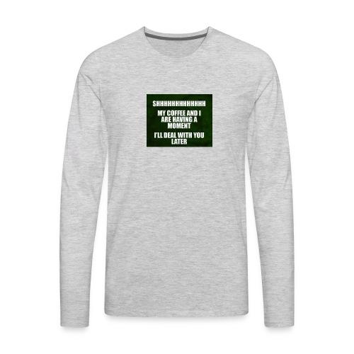 coffee funnY - Men's Premium Long Sleeve T-Shirt